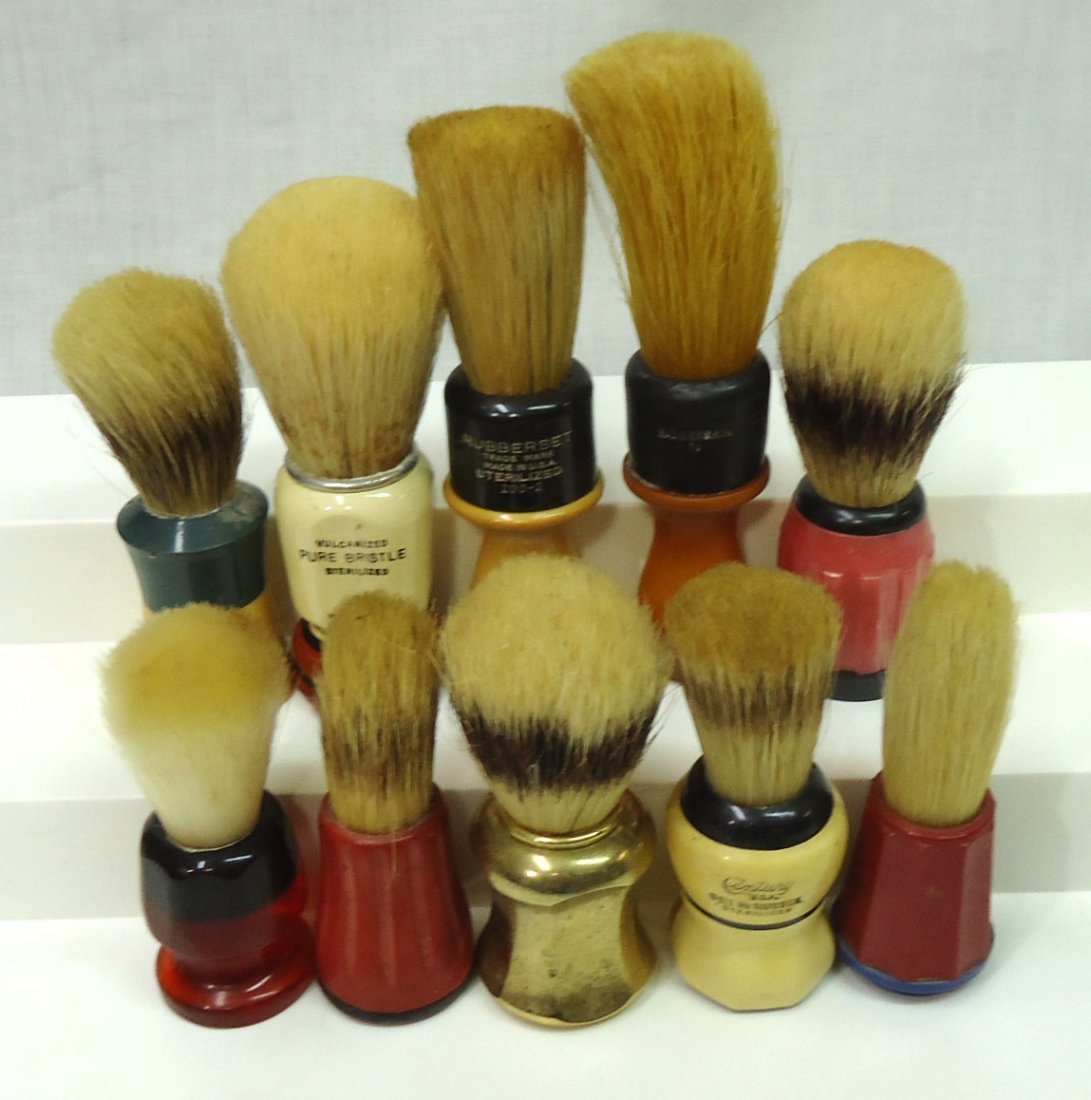 Lot Of 10 Shaving Brushes
