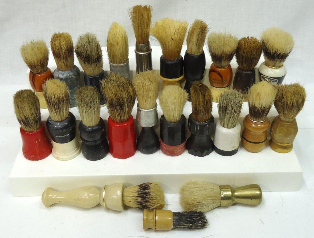 Lot Of 23 Shaving Brushes