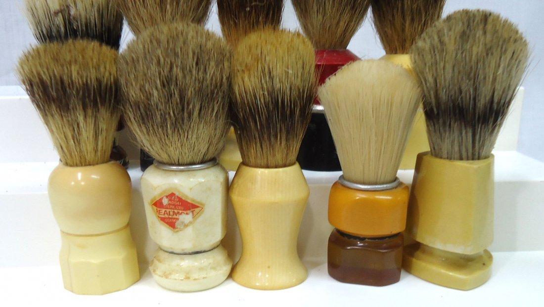 Lot Of 10 Badger & Other Shaving Brushes - 3