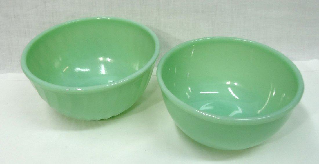 2- Fire King Jadeite Bowls