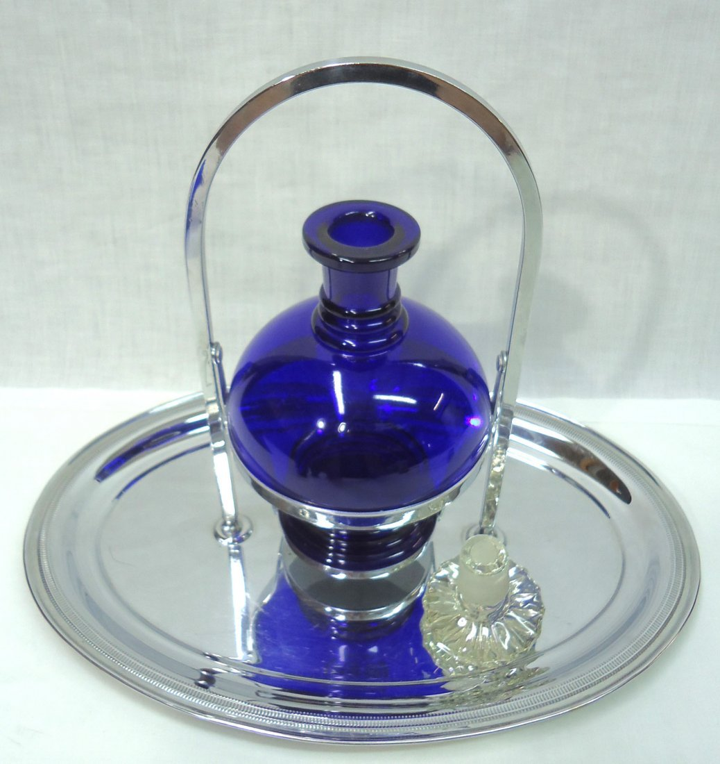 Chrome & Cobalt Deco Drink Set - 2