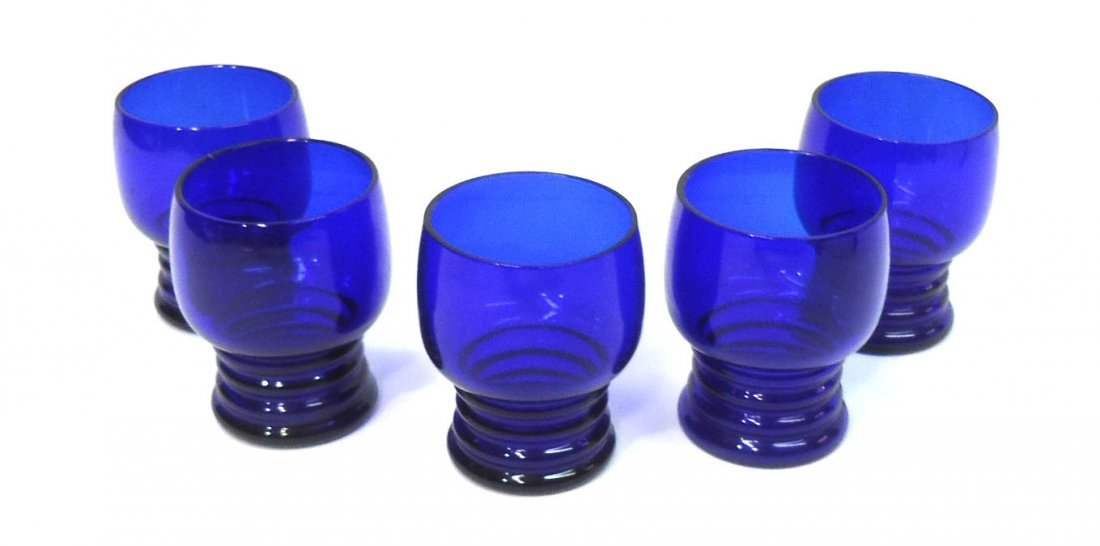Chrome & Cobalt Deco Drink Set - 3