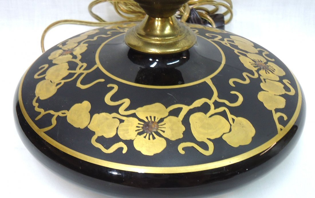 Gold Enameled Miller Pancake Lamp - 2
