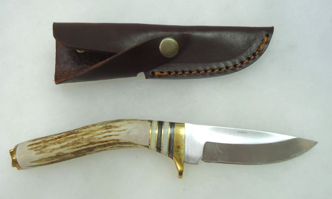 Stag Handle Hunting Knife