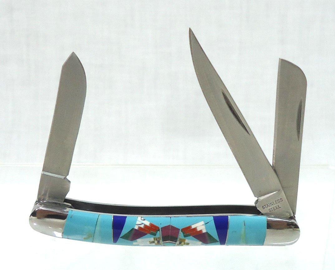 Inlaid Turquoise Pocket Knife