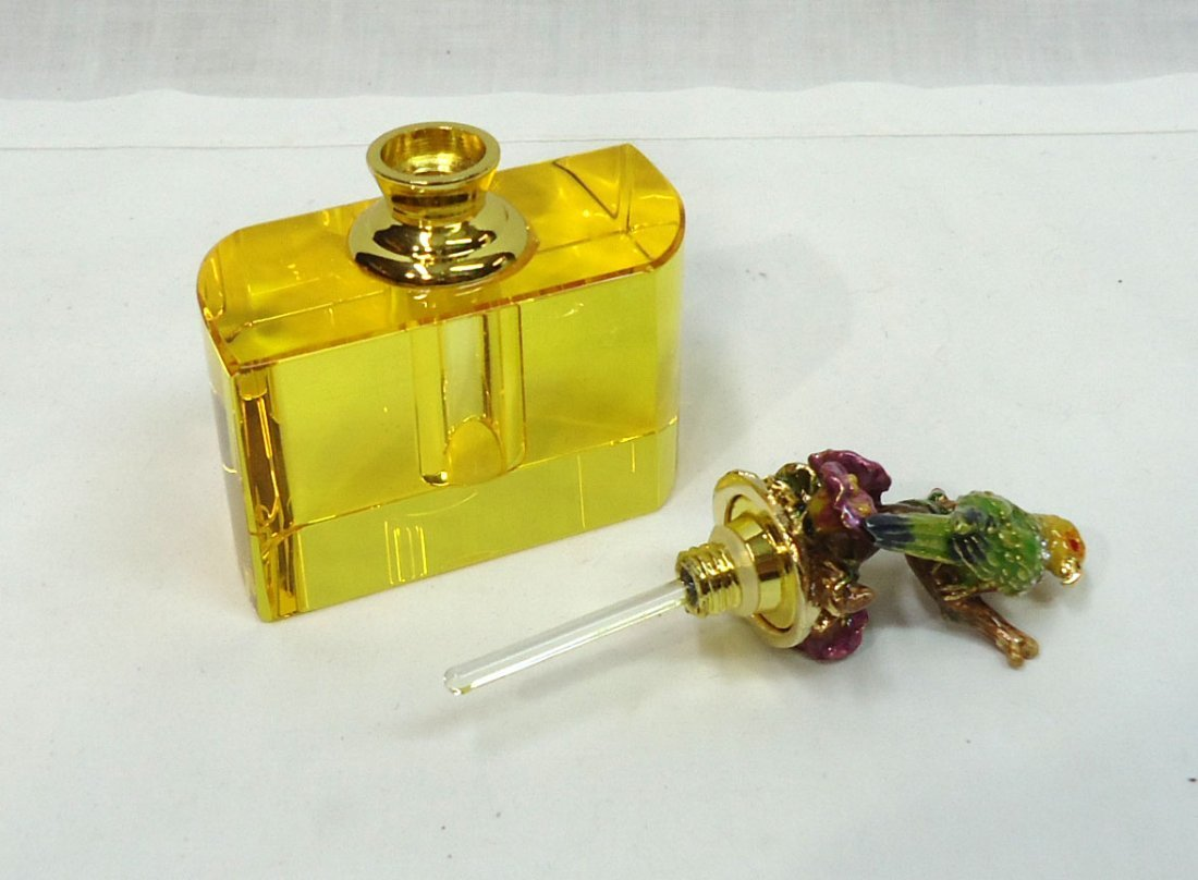 Perfume w/ Enameled Parrot - 3