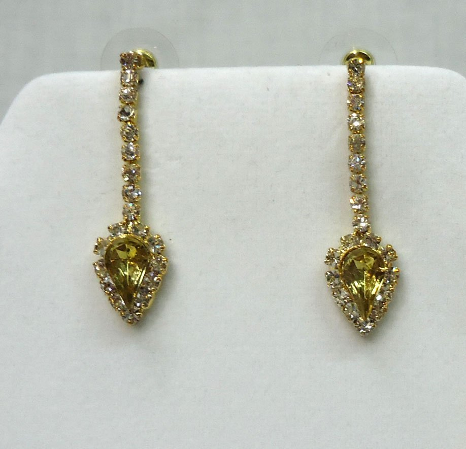 Rhinestone Necklace & Earrings - 3