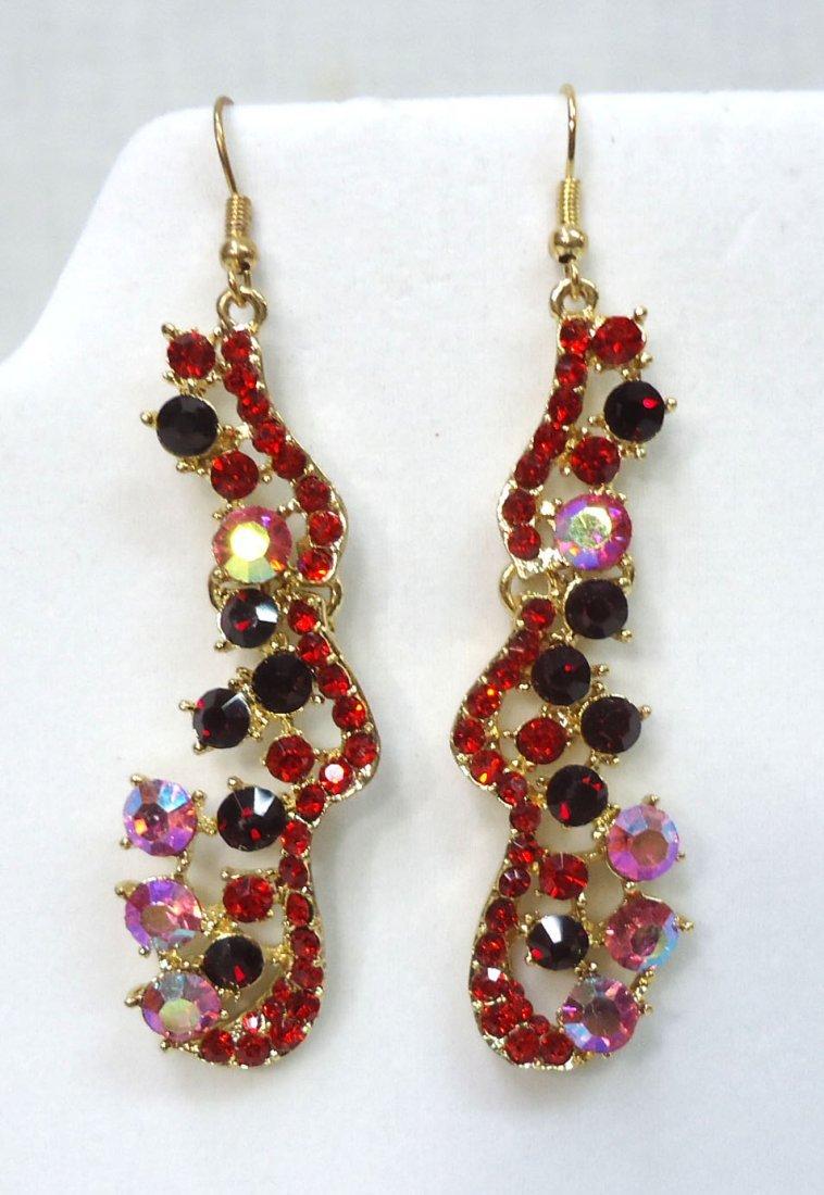 2pr Rhinestone Earrings - 2