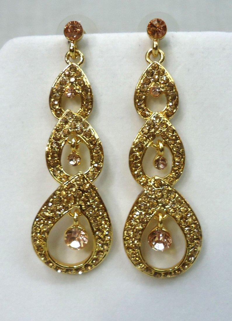 2pr Rhinestone Earrings - 3