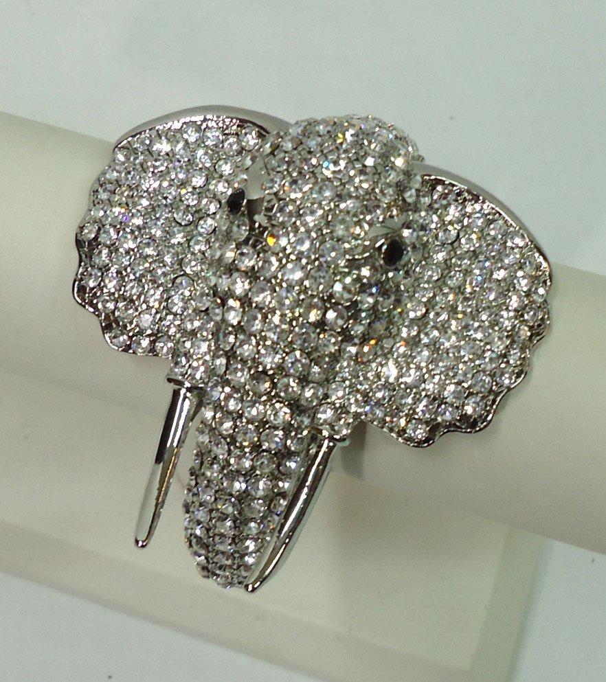 Rhinestone Elephant Bracelet
