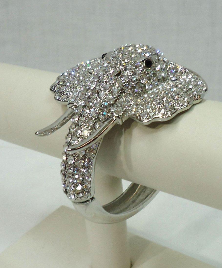 Rhinestone Elephant Bracelet - 2