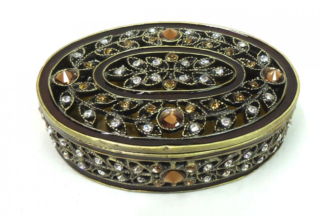 Jeweled & Enameled Dresser Box