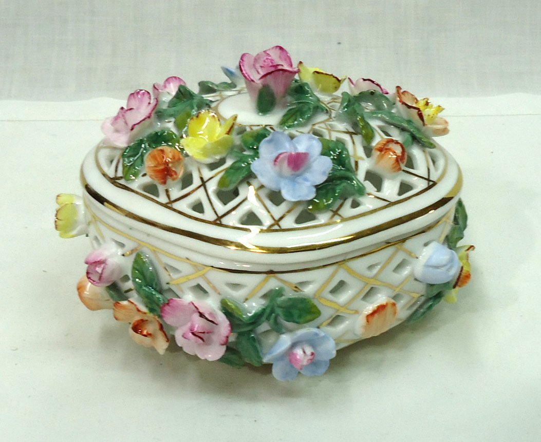 Modern KPM Reticulated Dresser Box