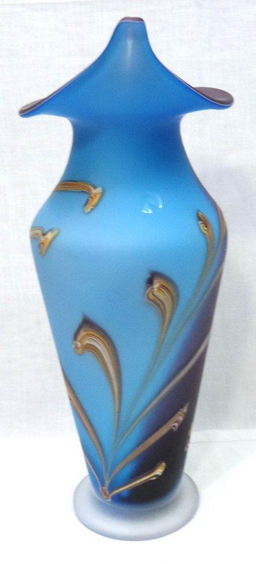 Lg. Art Glass Vase Sgnd - 3