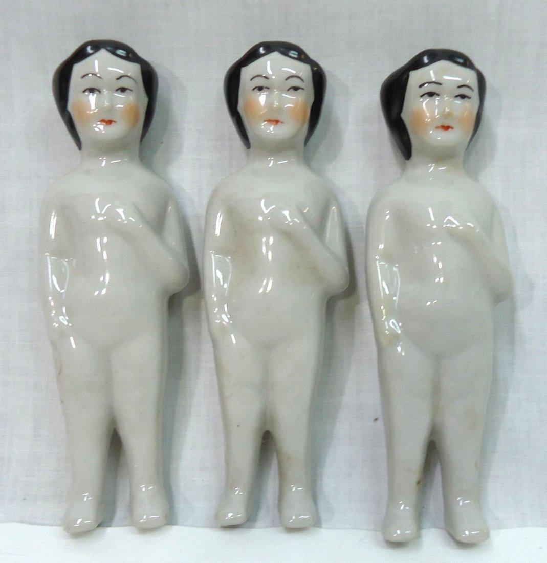 3 English Frozen Charlotte Dolls