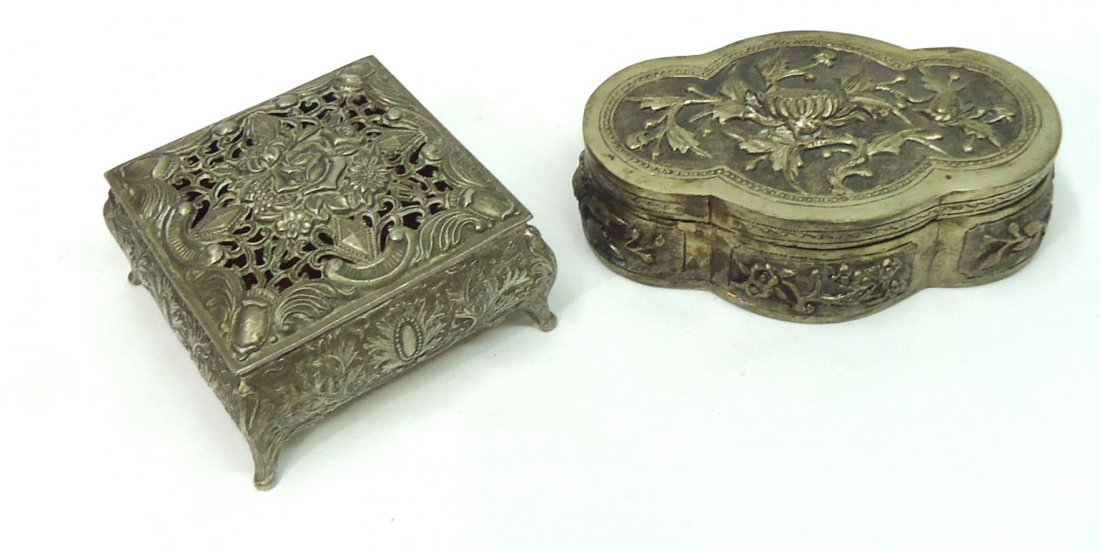 2 Oriental Metal Boxes