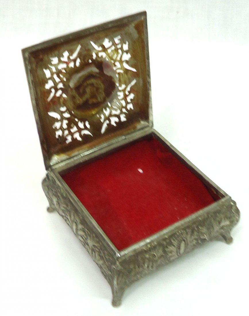 2 Oriental Metal Boxes - 2