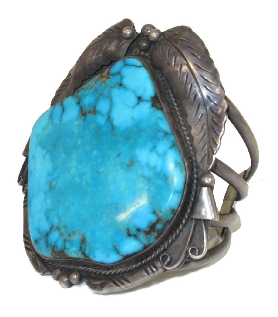 Huge Turq. Navajo Bracelet 1960's