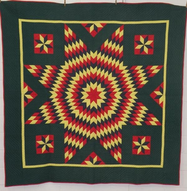 215: Starburst pattern quilt