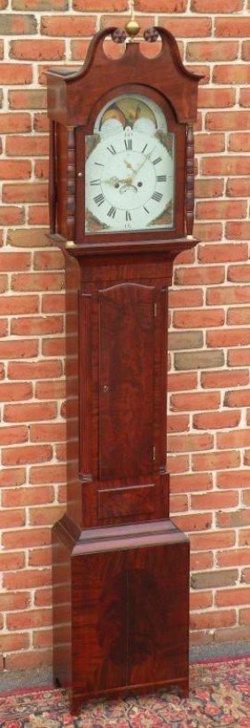 434: Federal inlaid tall case clock