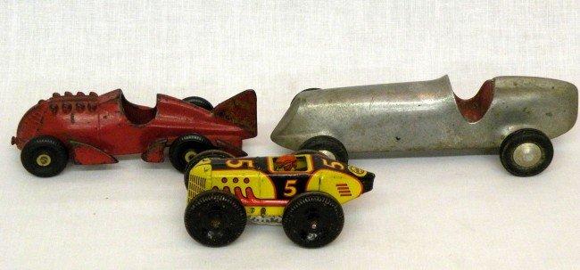 9: 3 race cars