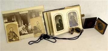 165 Civil War era photo album photos  locket