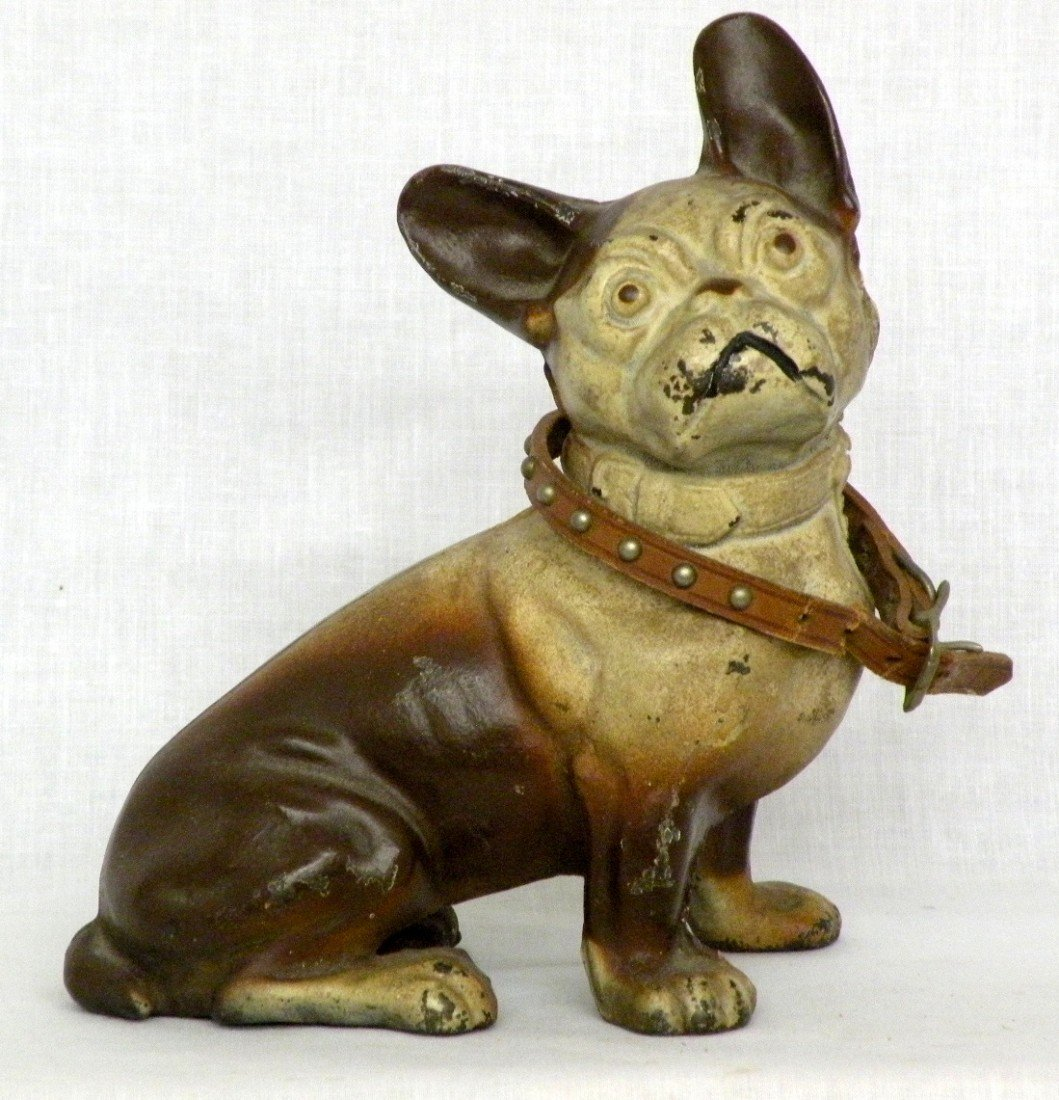 247: Hubley seated dog iron doorstop