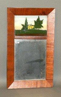 677: Reverse painted empire mirror