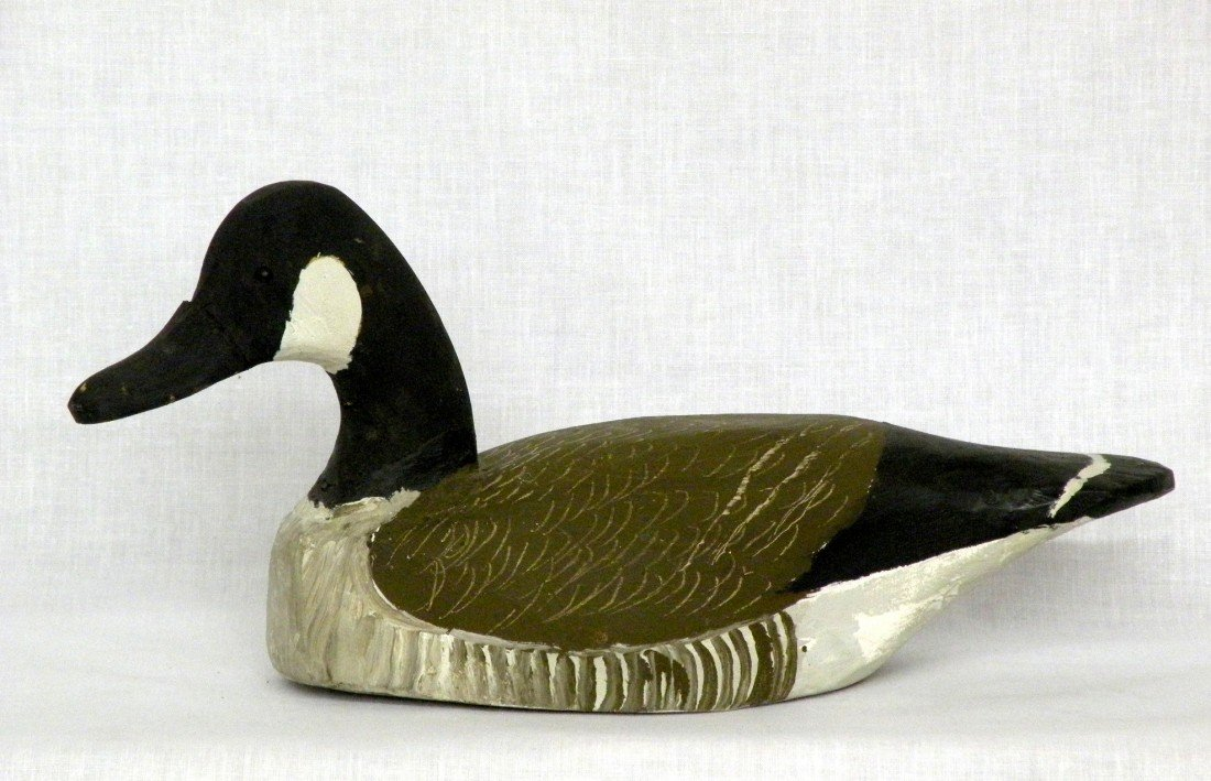 19: Hancock Canadian goose carving