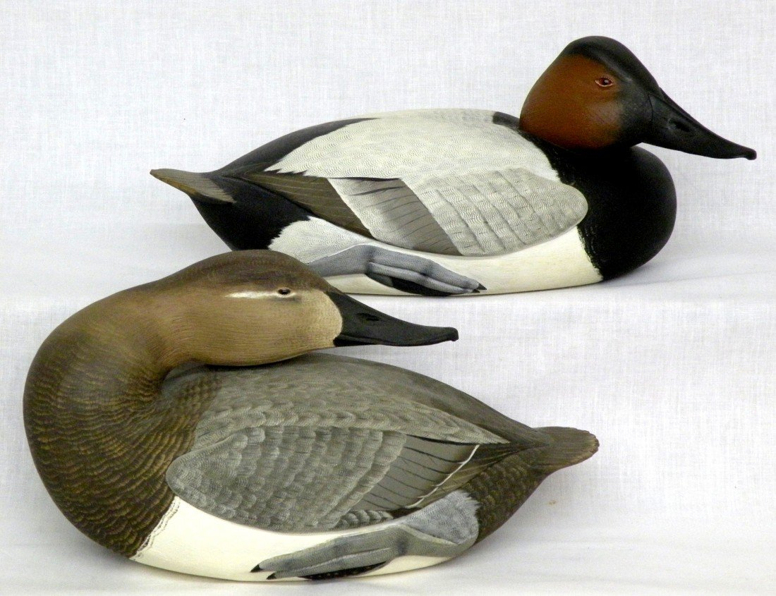 20: Pair of Reed canvasback decoys