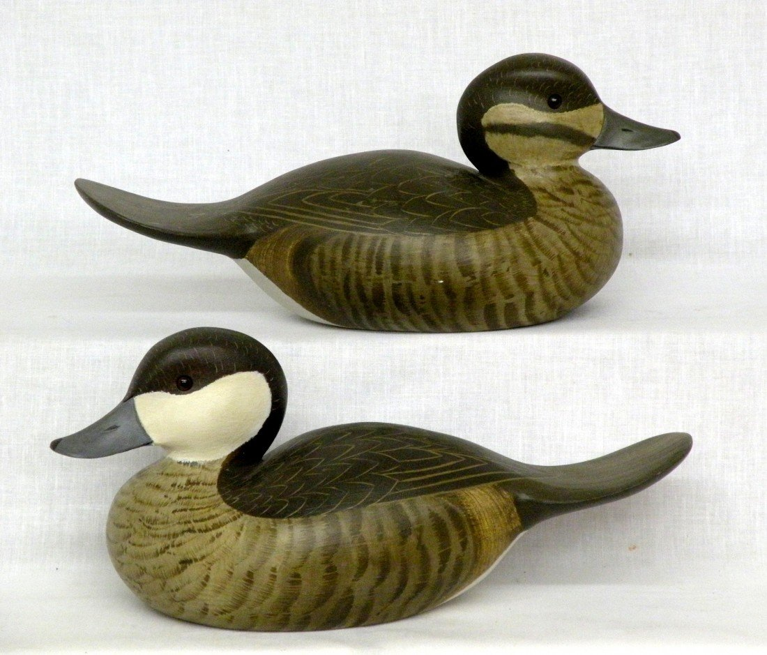 47: Pair of Jim Britton ruddy duck decoys