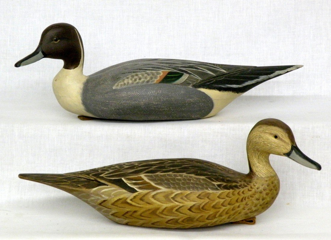 209: Pair of Hawthorn pintail decoys