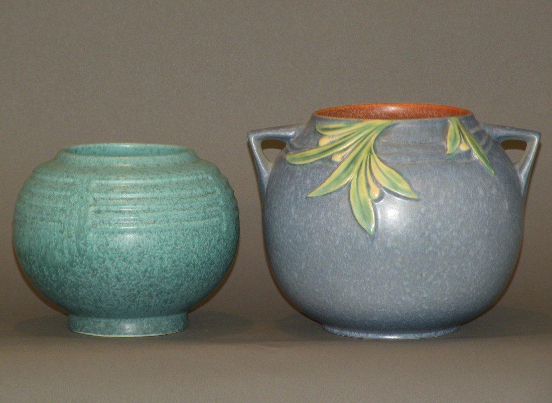 9: 2 Roseville vases