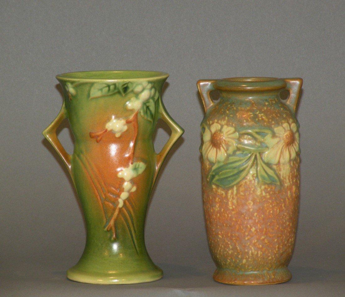 14: 2 Roseville vases