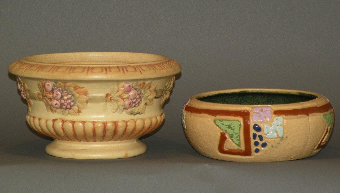 20: Roseville bowl & Roma jardinière