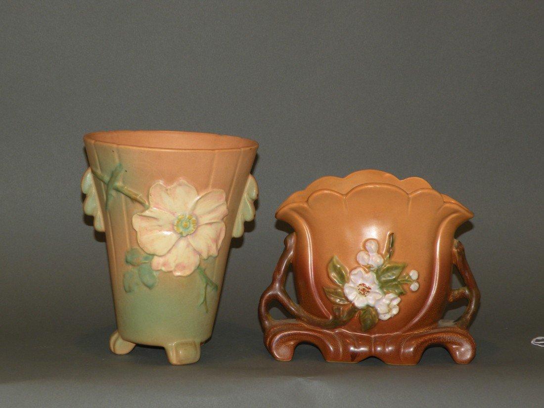 22: 2 Weller vases