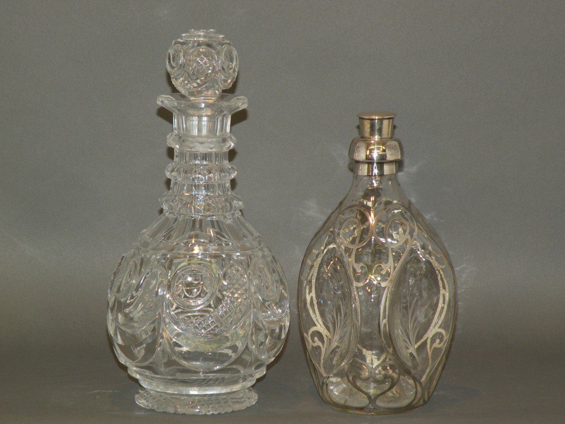 74: 2 glass decanters
