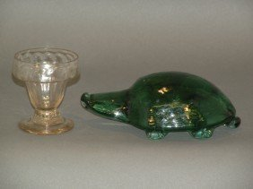 Turtle Doorstop & Stiegel Type Salt