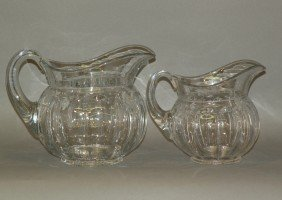 2 Heisey Glass Pitchers