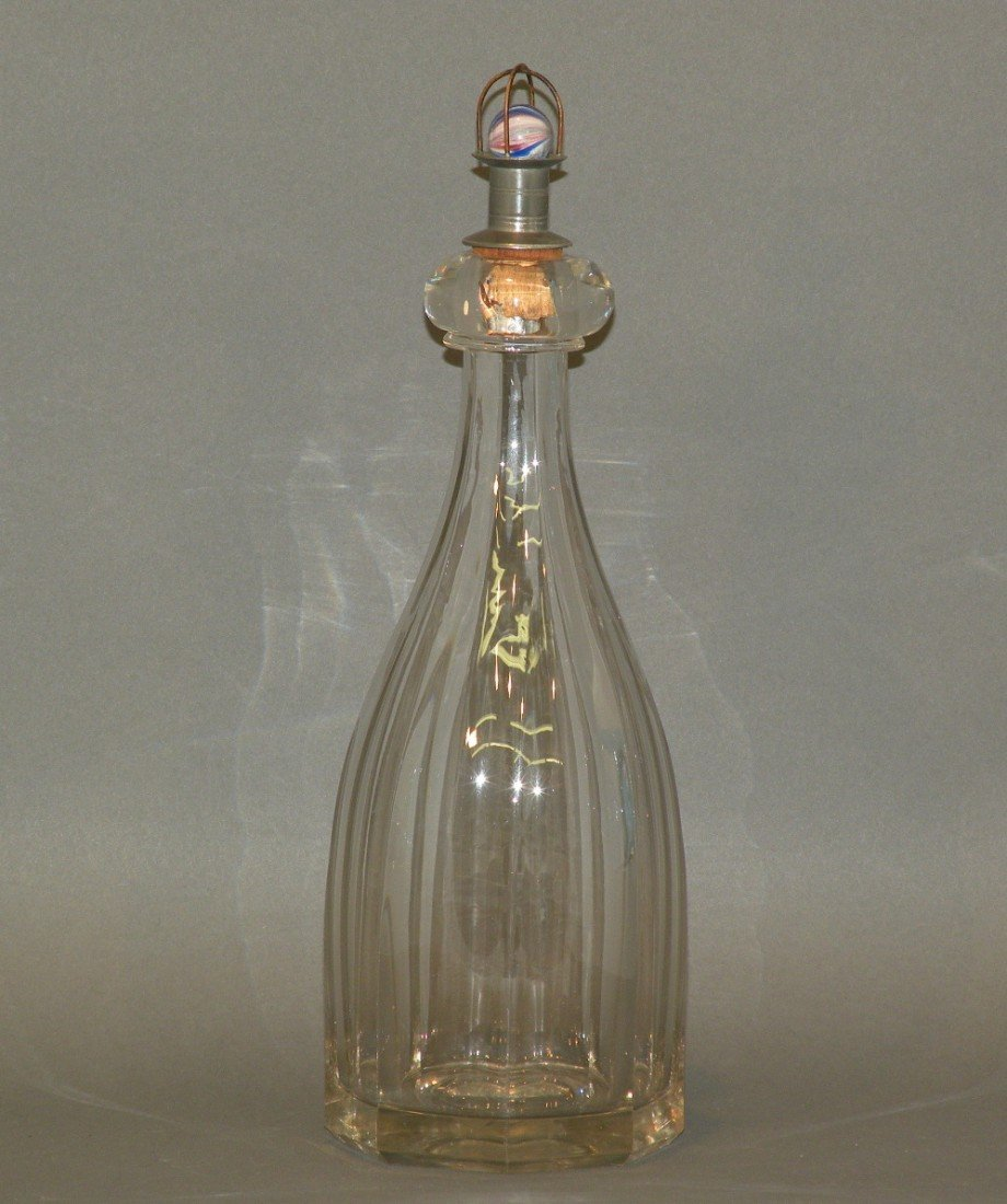 102: Flint glass bar bitters bottle