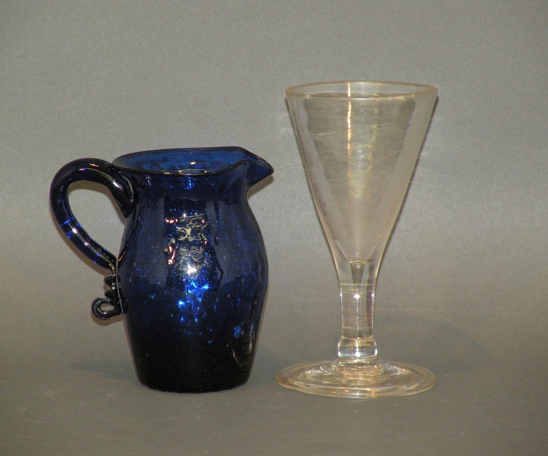 106: Stiegel type wine & creamer