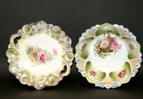 R.S. Prussia Cake Plate & Serving Bowl