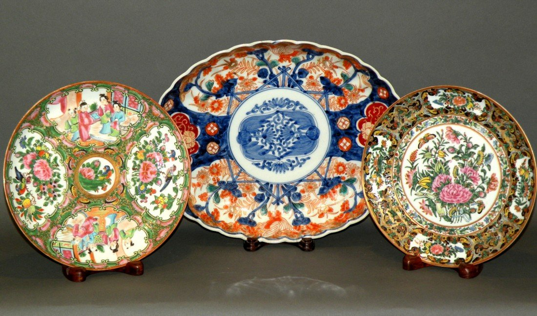 155: 3 pieces of oriental china