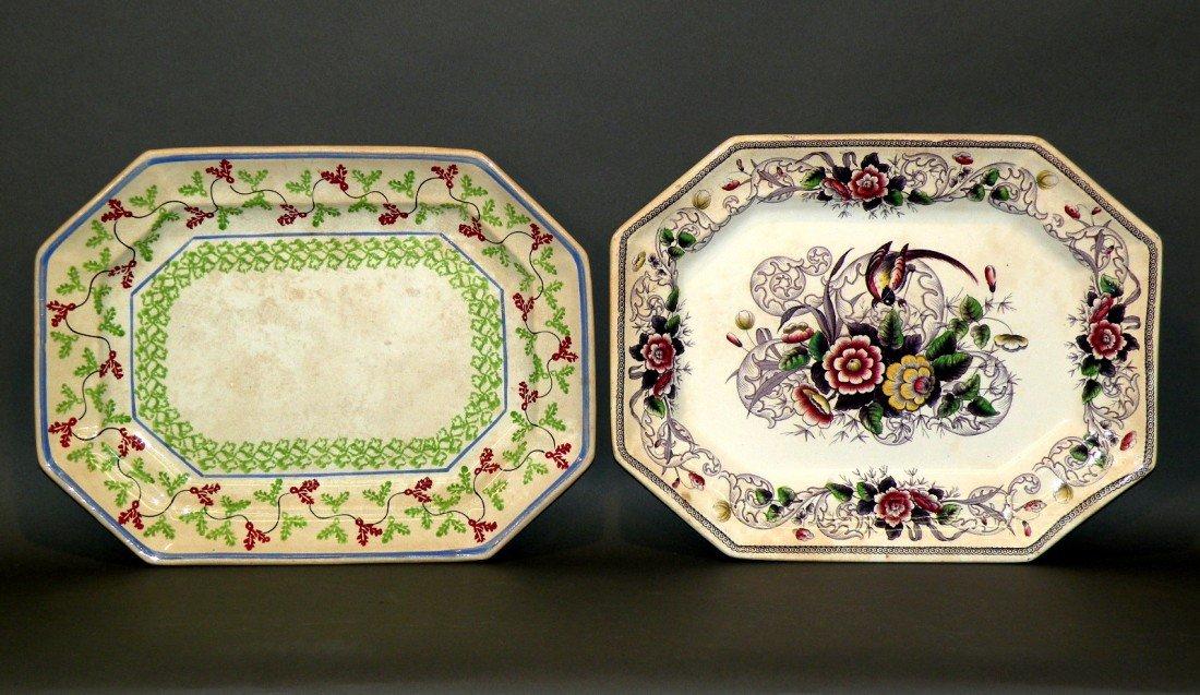 156: 2 ironstone platters
