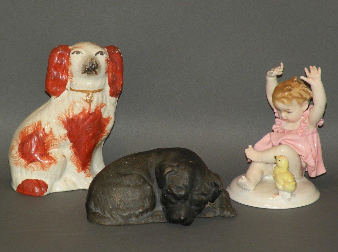 162: 3 china figurines