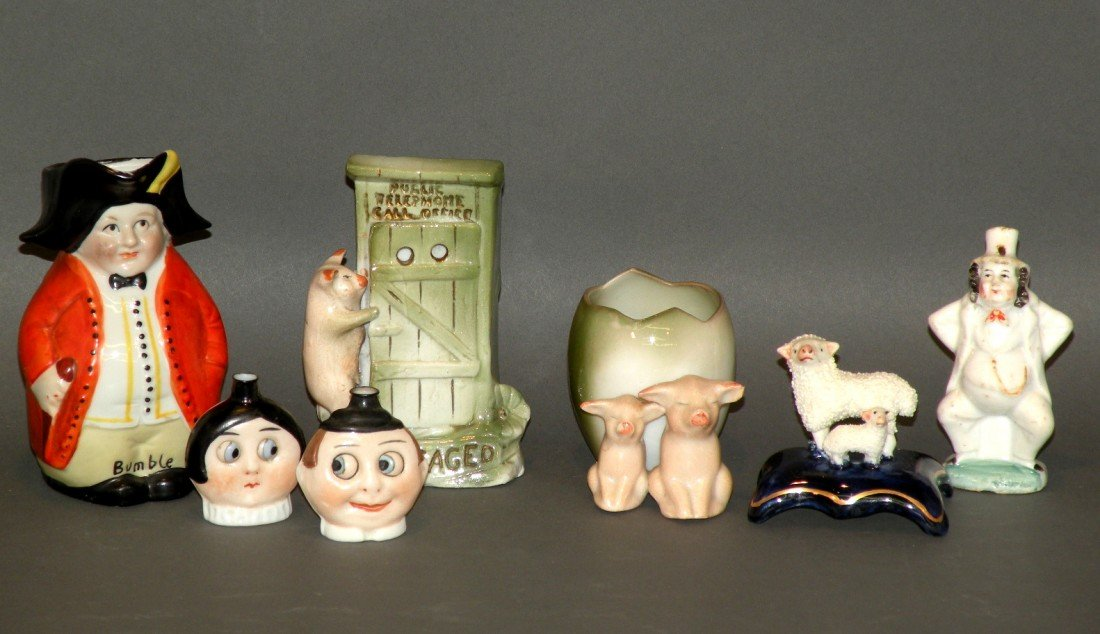 164: 7 assorted figural items