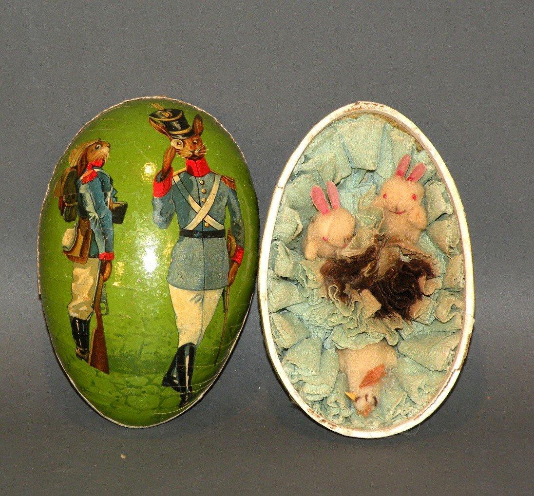 168: German papier mache egg