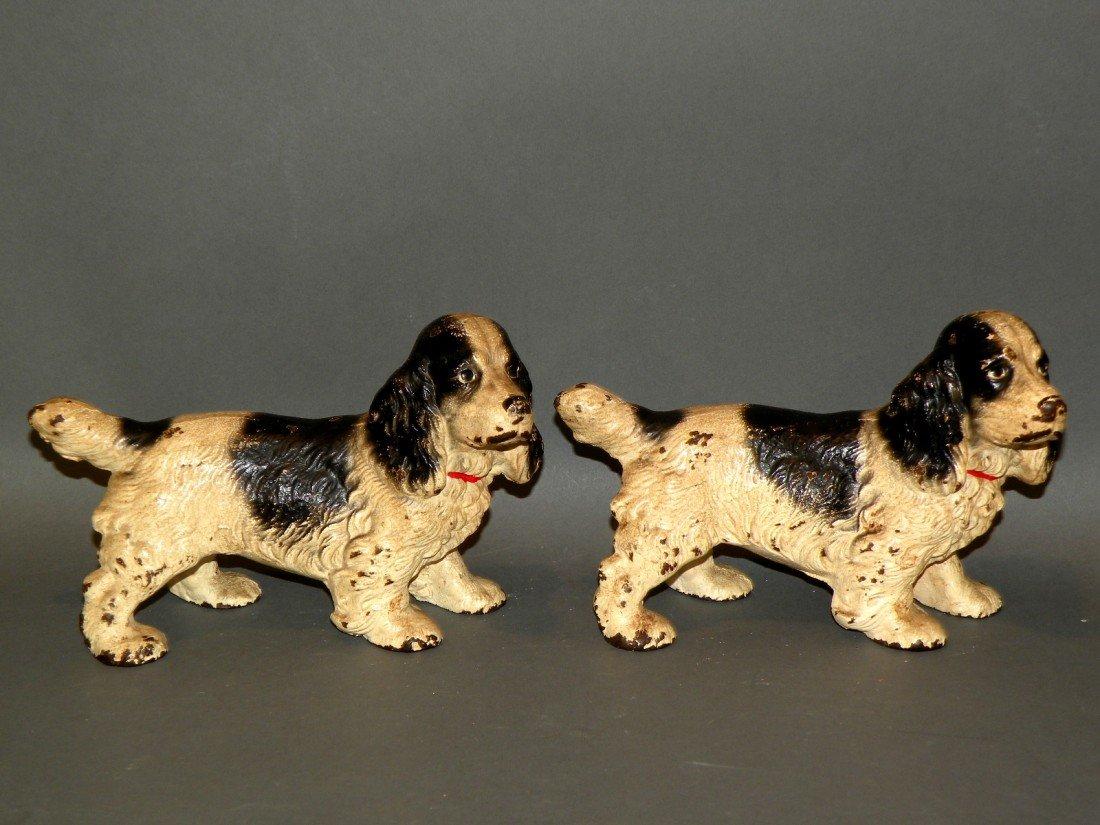 375: 2 Hubley spaniel dogs