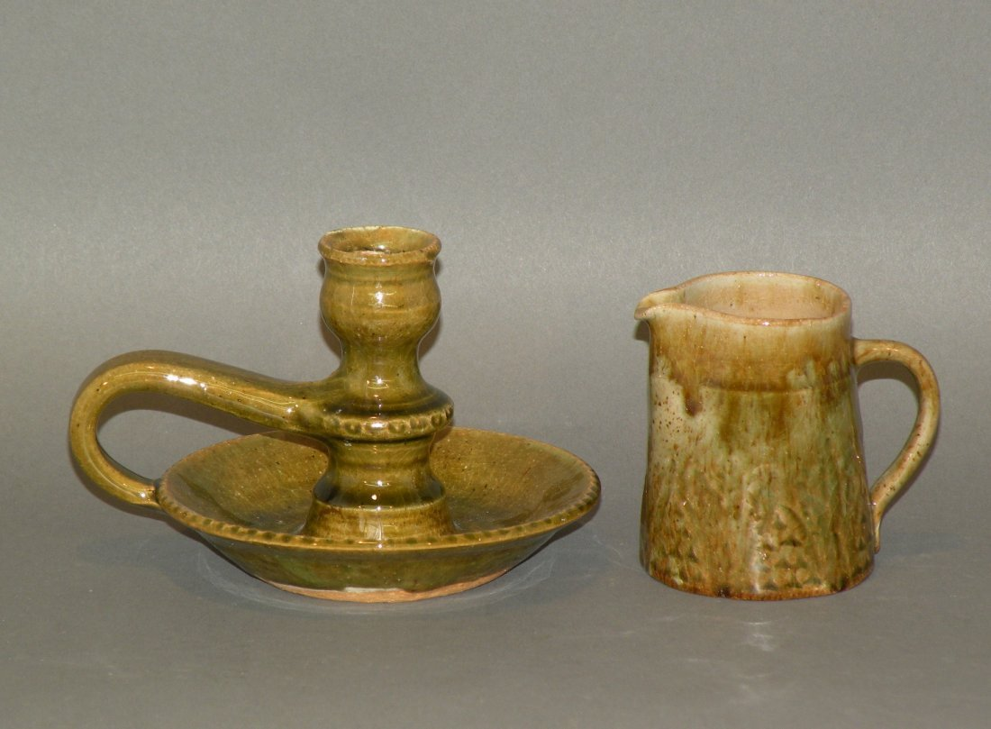 4: Left Handed Russell Henry candlestick & pitcher