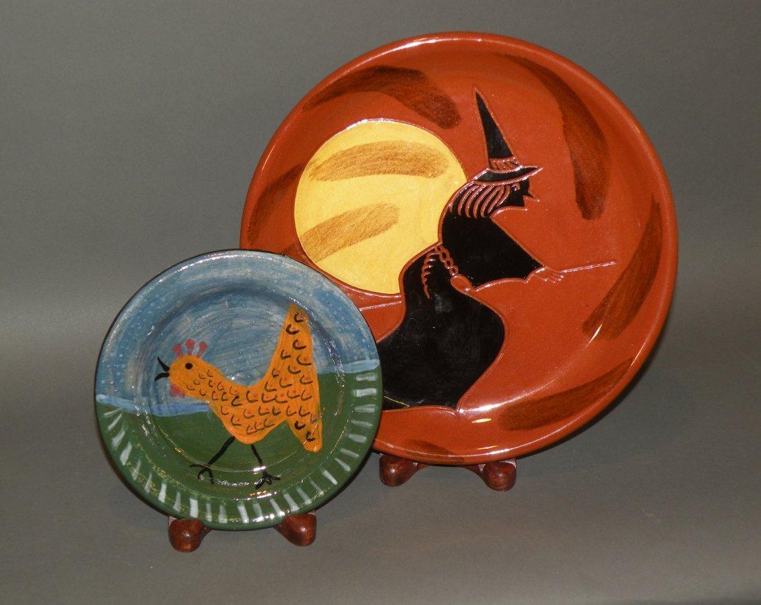 18: 2 pottery plates
